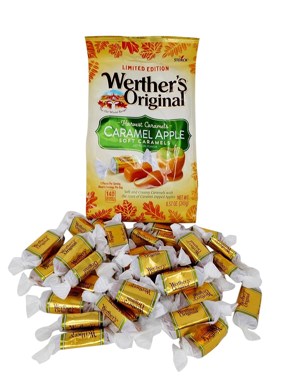 Werther's Original Soft Harvest Apple Caramel Candy, 8.57 Oz Bag