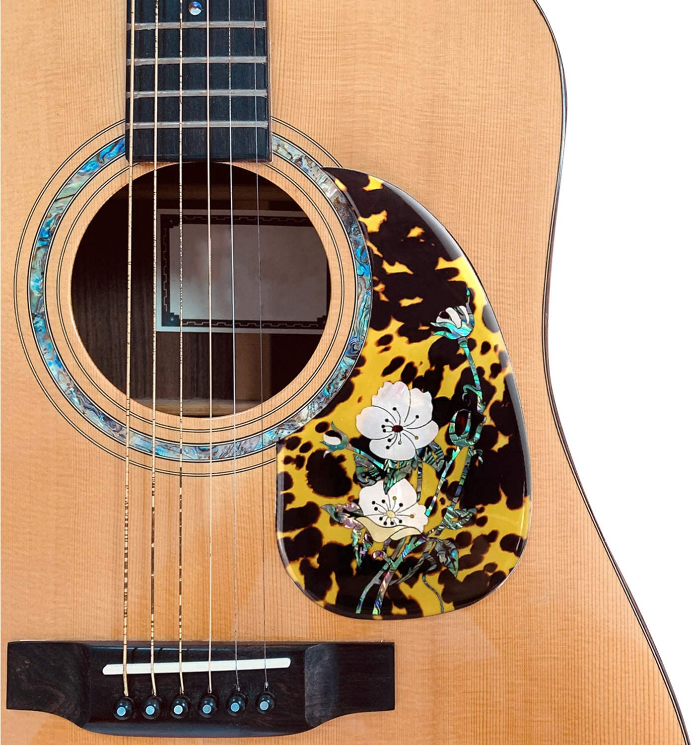 Acoustic Guitar Pick Guard,sazoley High-grade Folk Guitar Pickguard Pick Guard with Decorative Flower Pattern for 40 Inch 41 Inch Acoustic Guitars