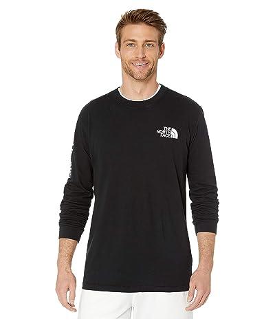 The North Face Long Sleeve TNFtm Sleeve Hit T-Shirt (TNF Black/TNF White) Men