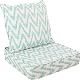 WOTU Outdoor/Indoor Deep Seat Chair Cushions Set,Deep Seat and Comfortable Back Cushion Large Size Replacement Cushion for...