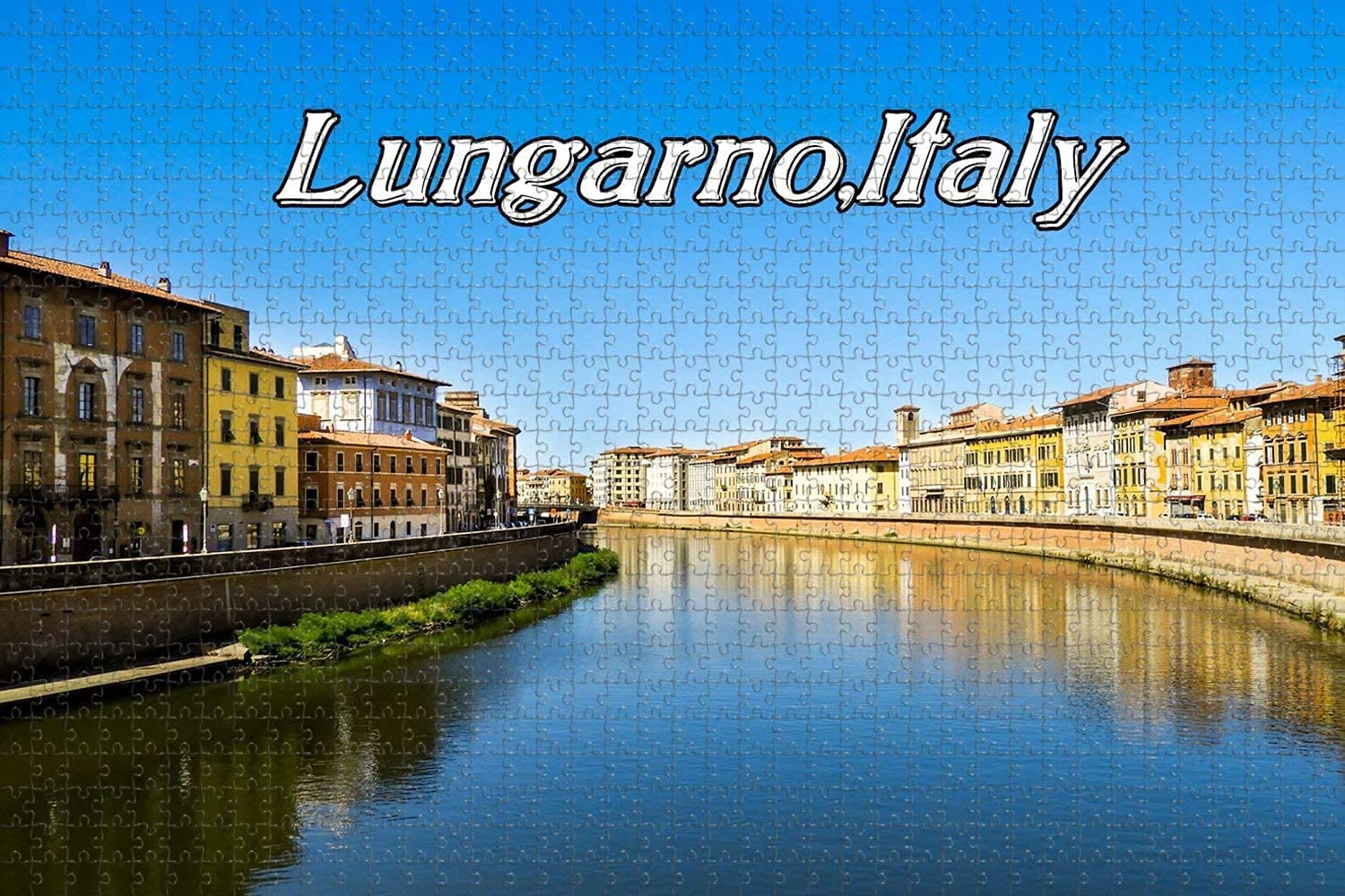 Italy Pisa River Tuscany Arno Manufacturer OFFicial shop Puzzle Miami Mall Piece Jigsaw Lungarno 1000