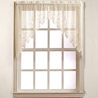 No. 918 Joy Classic Lace Kitchen Curtain Swag Pair, 60