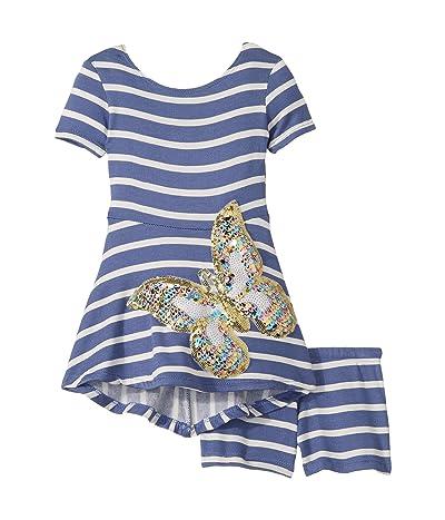 fiveloaves twofish Capri Skater Butterfly Dress (Toddler/Little Kids) (Blue) Girl