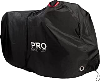 Pro Bike Cover for Outdoor Bicycle Storage - Large 1, XL 1-2, XXL 2-3 Bikes - Heavy Duty Ripstop Material, Waterproof, Anti-UV - Protection from All Weather Conditions for Mountain and Road Bikes