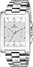 AUREX Analogue Men's Watch (White Dial Silver Colored Strap)