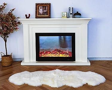 WaySoft Genuine New Zealand Sheepskin Rug, Luxuxry Fur Rug for Bedroom, Fluffy Rug for Living Room (2ft x 6ft, Natural)