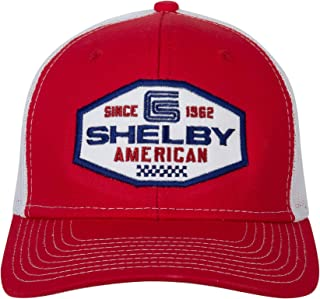 Shelby American Red Trucker Hat | Officialy Licensed Shelby Product | One-Size Fits All | Adjustable Plastic Snap Closure