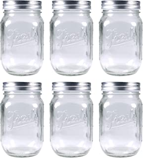 Britten & James Mason Glass 'Fresh' 490ml Preserving Jars [Pack of 6]. For Homemade Jams and Preserves