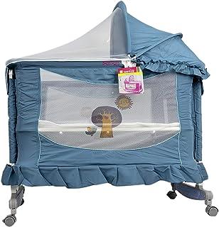 BABY PLUS Baby Travel Crib, 115 x 67 x 10 cm - Blue, BP6598BLUE