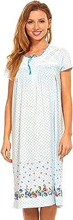 ملابس نوم نسائية من Floopi بيجامات قطنية - قميص نوم حريمي بأكمام قصيرة