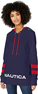 NAUTICA Womens 9313ZK Classic Supersoft 100% Cotton Pullover Hoodie Long Sleeve Hooded Sweatshirt