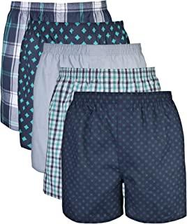 GILDAN Mens Standard Woven Boxer Underwear 5 Pack
