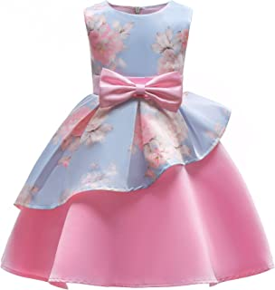 2-9T Girls Flower Dress Kids Formal Special Occasion Party Dresses