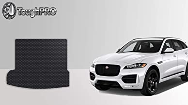 ToughPRO Cargo/Trunk Mat Compatible with Jaguar F-pace - All Weather - Heavy Duty - (Made in USA) - Black Rubber - 2016, 2017, 2018, 2019, 2020