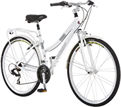 Schwinn Discover Hybrid Bike for Men and Women, 21 Speed, 28-Inch Wheels, Step-Through or Step-Over Frame, Multiple Colors