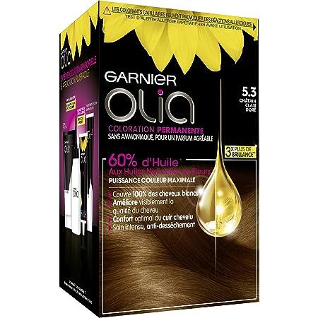 Coloración permanente Garnier-Olia a base de aceite, sin amoníaco, color castaño