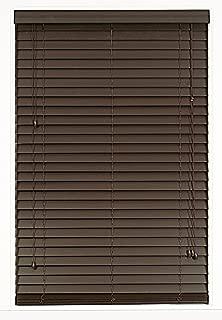 Better Home Plantation Collection Madera Falsa 2-Inch Faux Wood Blind - Mahogany - 43