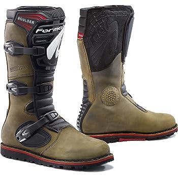 43 Marrone Stivali Moto Boulder Approvato CE FORMA