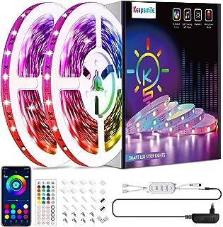 15M Led Strip Keepsmile RGB Smart APP Musik Sync Farbwechsel Led Streifen mit Fernbedienung und Control Boxen led Lichterk...