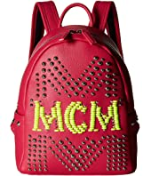 MCM - Stark Neon Stud Leather Backpack 27