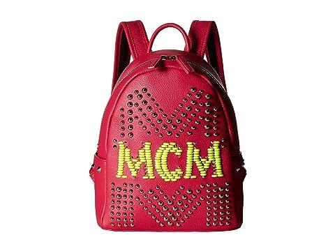 MCM Stark Neon Stud Leather Backpack 27