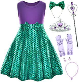Party Chili Little Girls Mermaid Green Dress Princess ostumes for Toddler Girls with Accessories 18 Months to 6 Years