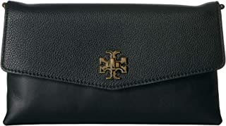 Women's Kira Leather Clutch Crossbody Handbag Black