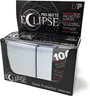 Ultra Pro PRO-Matte Eclipse Arctic White Standard Deck Protector Gaming Card Sleeves (600 Count case)