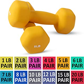 Neoprene Dumbbell Pairs by Day 1 Fitness - 12 WEIGHT...