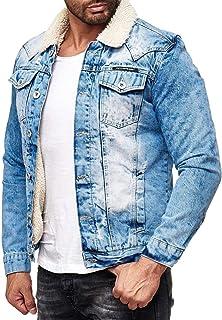 Redbridge Men's Jeans Denim Jacket Slim Fit Sherpa Basic Biker Fashion Jackets