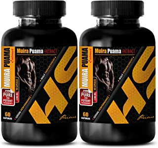 Sexual libido Booster for Men - Muira PUAMA Extract - Potency Wood Extract - 2 Bottles 120 Capsules