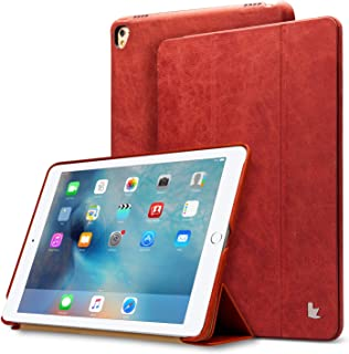 """Jisoncase iPad Pro 9.7"""" Leather Case, iPad Pro 9.7"""" Vintage Genuine Leather Magnetic Smart Cover Case Flip Folio Protective Case with Auto Wake/Sleep Function Screen Protector for Apple iPad Pro 9.7'"""