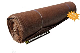 """WindscreenSupplyCo 5`8"""" X 100` Shade Fabric Roll Sunblock Shade Cloth, 85% UV Resistant Mesh Netting Cover (1, Brown)"""