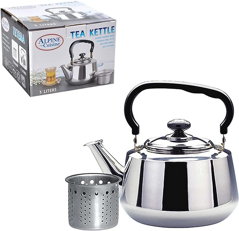 Aramco WLA020 Alpine Cuisine Tea Kettle Strainer 3 L Stainless Steel