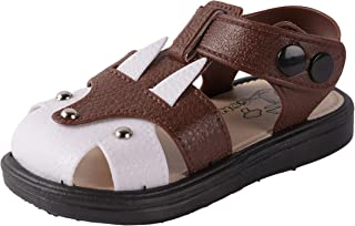 Yellow Bee Wolf Sandals for Boys, Brown