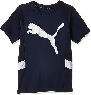 PUMA unisex-child Active Sports Cat Poly T-Shirt, BLUE, One Size
