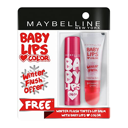 Maybelline New York Baby Lips with Free Winter Flush Tinted Lip Balm (4.4g), Berry Crush, 4g