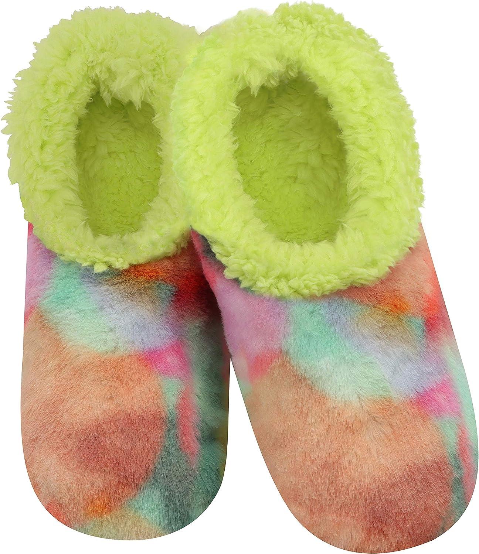 2020 SLUMBIES LOTSA DOTS Fun with Fur WOMENS SLIPPERS SOCKS Ladies NON SLIP GRIP