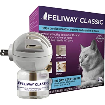 FELIWAY Classic 30 Day Starter Kit Plug-in Diffuser & Refill for Cat