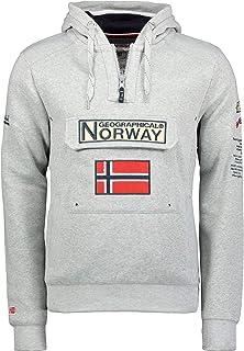 Geographical Norway Felpa da Uomo GYMCLASS B Grigio Melange