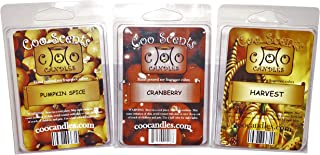 3 Pack Sampler of Soy Wickless Candle Bar Wax Melts - Autumn Spice Scents - Fall or Winter