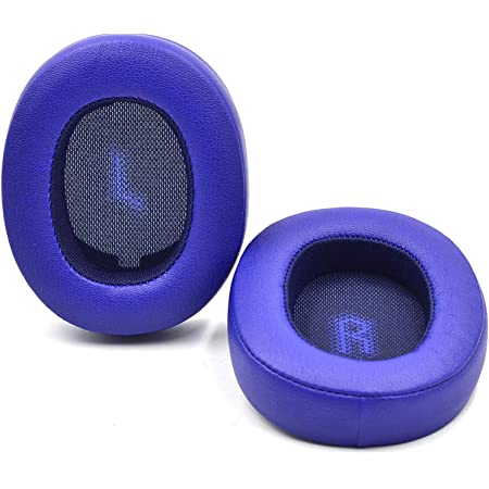 Replacement Ear Pads Foam Cushion Pillow Parts Cover for JBL E55BT E 55 bt Bluetooth Wireless Headsets (Blue)