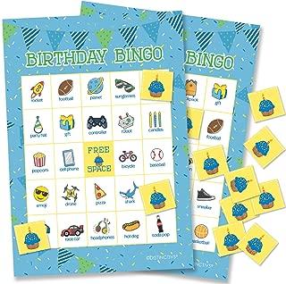 Boy Birthday Bingo Game for Kids - 24 Players