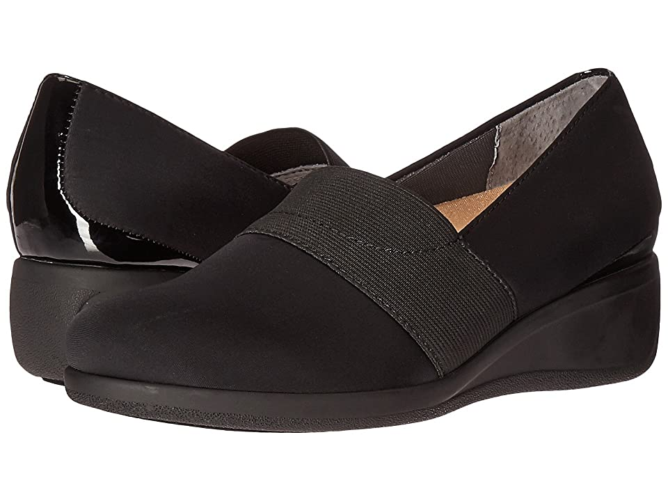 Trotters Marley (Black Microfiber/Patent) Women