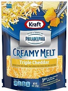 Kraft Natural Shredded Triple Cheddar with Philadelphia Cream Cheese (8 oz Bag)
