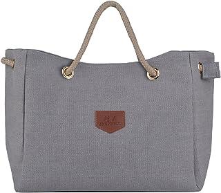Shoulder Bag, Fanspack Womens Shoulder Handbag Unique Canvas Tote Bag with Rope Strap