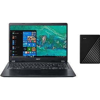 Acer Aspire 5 Slim 7th Gen Core i3 15.6-inch Thin and Light Laptop (4GB/256GB SSD/Windows 10/Obsidian Black/1.8kg), A515-52KWestern Digital -WD 2TB My Passport Portable External Hard Drive, Black