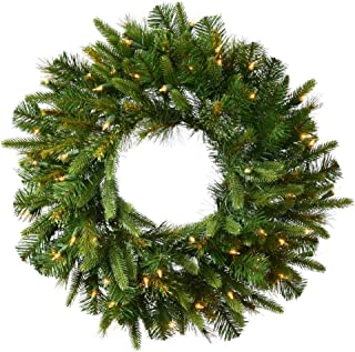 Vickerman Cashmere Pine Green Wreath with 200 Warm White Italian LED, 60-Inch