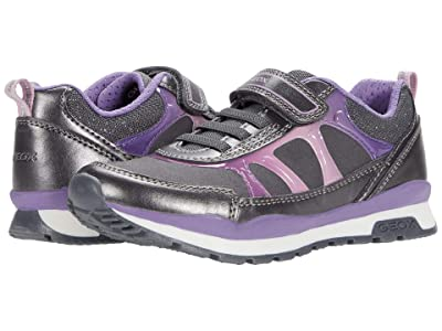 Geox Kids Pavel 8 (Little Kid) (Dark Grey/Dark Violet) Girl