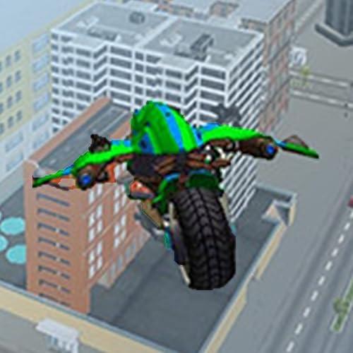 Ultimatives Bike-Verwandlungsspiel für fliegende Roboter